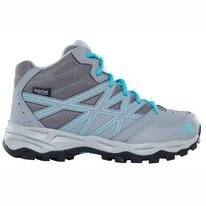Wanderschuhe The North Face Junior Hedgehog Hiker Mid Wp Zinc Grey Blue Curacao Kinder