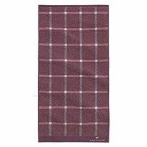 Handdoek Tom Tailor Karo Mauve (Set van 2)