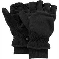 Gloves Barts Unisex Convertible Mitts Black