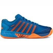 Tennisschoen K Swiss Men Hypercourt EXP HB Brilliant Blue Neon Orange