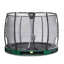 Trampoline EXIT Toys Elegant Ground 305 Green Safetynet Deluxe