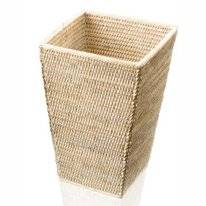Poubelle Decor Walther Basket Carré Rattan Clair