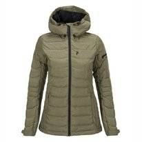Skijacke Peak Performance Black Soil Olive Damen