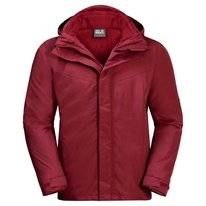 Jas Jack Wolfskin Men Gotland 3In1 Dark Lacquer Red