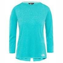 T-Shirt The North Face Women Inlux 3/4 Sleeve Top Ion Blue Dark Heather