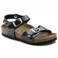 Sandaal Birkenstock Kids Rio BF Magic Snake Black-Silver Narrow