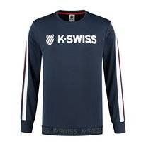 Tennistrui K Swiss Men Heritage Sport Logo C-Neck Navy