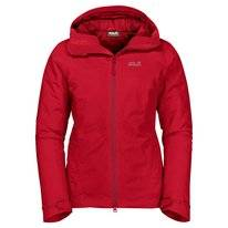 Jas Jack Wolfskin Women Argon Storm Jacket Red Fire