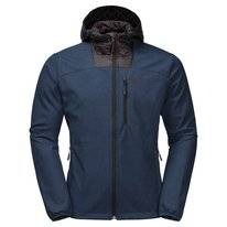 Jas Jack Wolfskin Men Sky Point Hoody Dark Indigo