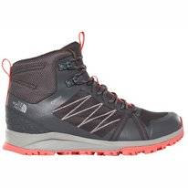 Wandelschoen The North Face Women Low Fastpack II Mid GTX Ebony Grey Fiesta Red