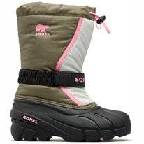 Sorel Children Flurry Hiker Green Bubblegum