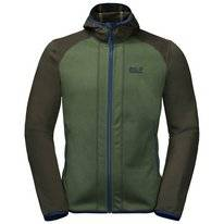 Vest Jack Wolfskin Men Hydro Hooded Moss