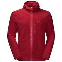 Vest Jack Wolfskin Men Skywind Hooded Dark Lacquer Red
