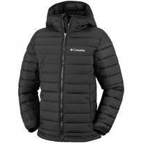 Jas Columbia Youth Powder Lite Boys Hooded Black