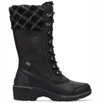 Sorel Whistler Tall Black Dark Stone Damen