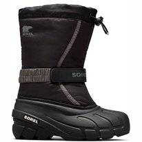 Bottes de Neige Sorel Youth Flurry Black Bright