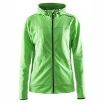 Vest Craft Women Leisure Full Zip Hood Craft Green
