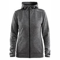 Vest Craft Women Leisure Full Zip Hood Dark Grey Melange
