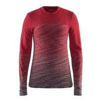 Long Sleeve T-Shirt Craft Wool Comfort 2.0 Women Red Grey