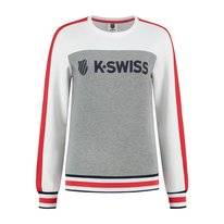 Tennistrui K Swiss Women Heritage Sport Warm-Up Sweat Melange Grey White