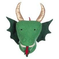 Wanddecoratie Kidsdepot Zoo Dragon Green