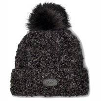 Muts UGG Women Boucle Knit Cuff Pom Hat Black