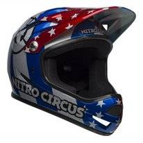 Fietshelm Bell Sanction Red Silver Blue Nitro Circus