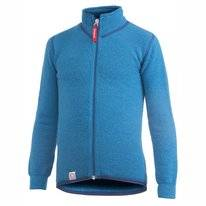 Strickjacke Woolpower Full Zip Jacket 400 Dolphine Blau Kinder
