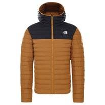 Jas The North Face Men Stretch Down Hoodie Timber Tan/TNF Black