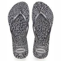 Tongs Havaianas Slim Animals Ice Grey Metallic Graphite