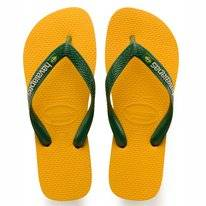 Tongs Havaianas Kids Brasil Logo Banana Yellow