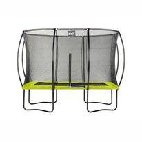 Trampoline EXIT Toys Silhouette Rectangular 366 x 244 Lime Safetynet
