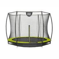 Trampoline EXIT Toys Silhouette Ground 244 Lime Safetynet