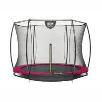 Trampoline EXIT Toys Silhouette Ground 244 Pink Safetynet