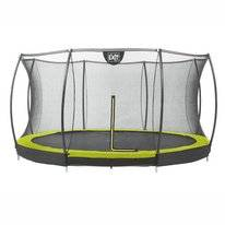 Trampoline EXIT Toys Silhouette Ground 366 Lime Safetynet