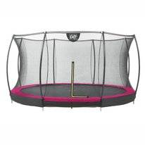 Trampoline EXIT Toys Silhouette Ground 366 Pink Safetynet
