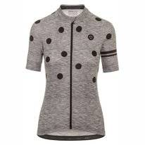 Fietsshirt AGU Essentials Women Dot Grey/Black