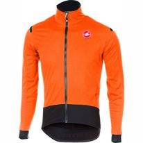 Fietsjack Castelli Men Alpha Ros Light Jacket Orange Black