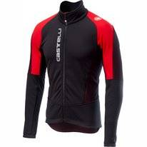 Fietsjack Castelli Men Mortirolo V Jacket Black Red