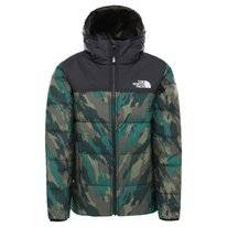 Jas The North Face Boys Reversible Perrito Jacket Evergreen Mountain Camo Print