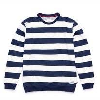 Jumper Herschel Supply Co. Men Crewneck Border Stripe Peacoat Rib