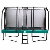 Trampoline Salta First Class Rectangular Groen 214 x 366 cm + Safety Net