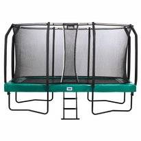 Trampoline Salta First Class Rectangular Groen 244 x 427 cm + Safety Net