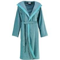 Dressing Gown Cawö 6425 Hood Women Turquoise
