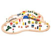 Treinset All Aboard Wooden Deluxe Train Set 102-delig