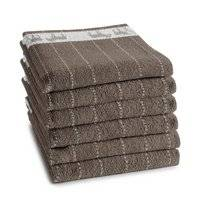 Kitchen Towel DDDDD Amigo Dark Taupe (Set of 6)