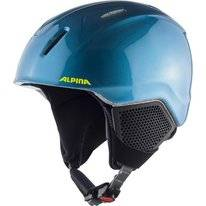 Skihelm Alpina Junior Carat LX Blue Neon Yellow
