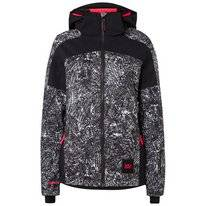 Skijacke O'Neill Wavelite Jacket Black Aop W/ White Damen