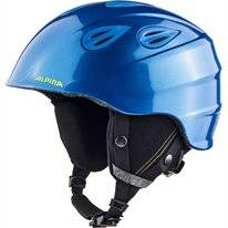 Skihelm Alpina Grap 2.0 Junior Blue Neon Yellow Matt