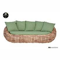 Loungebank Applebee Cocoon Sofa 236 Mocca Green